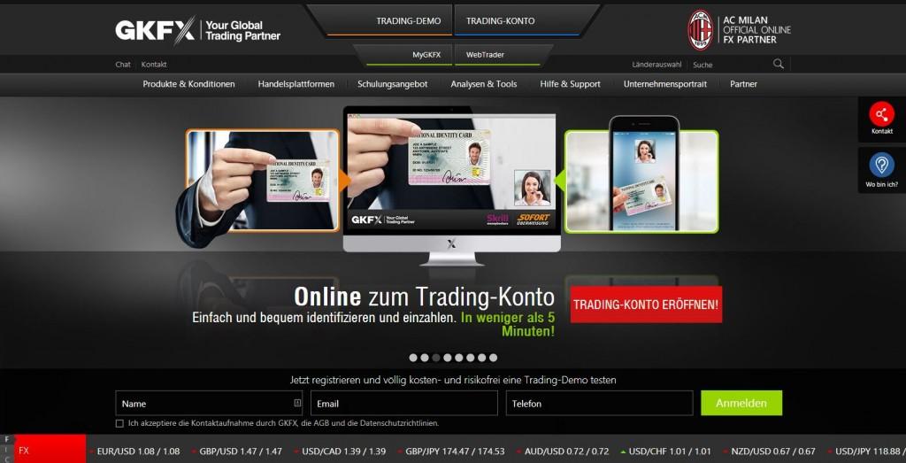 GKFX Tradingkonto eröffnen