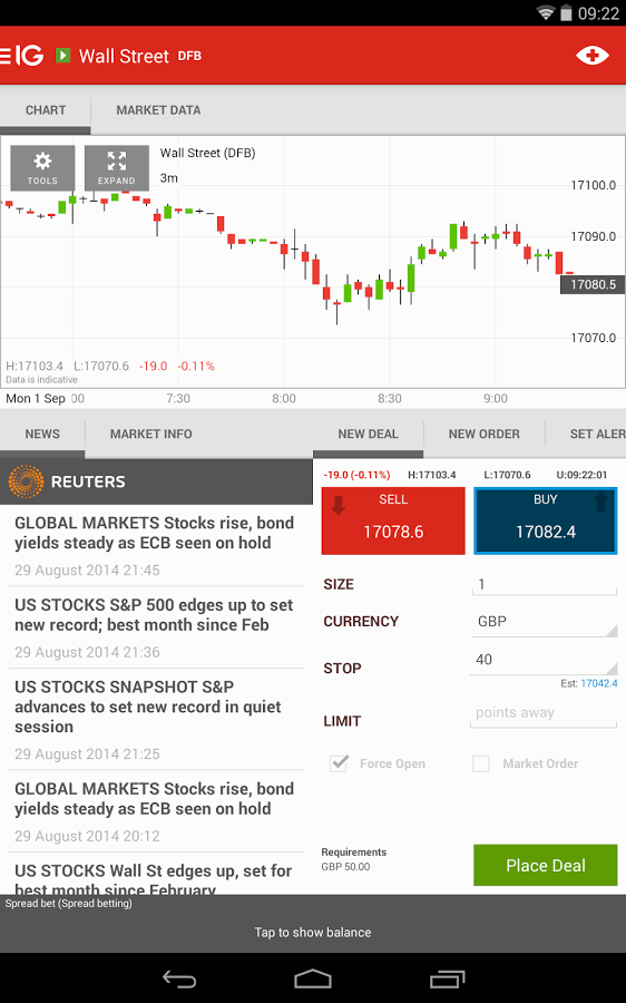 Die IG-App hilft beim mobilen Trading.