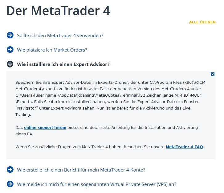FXCM Meta Trader 4