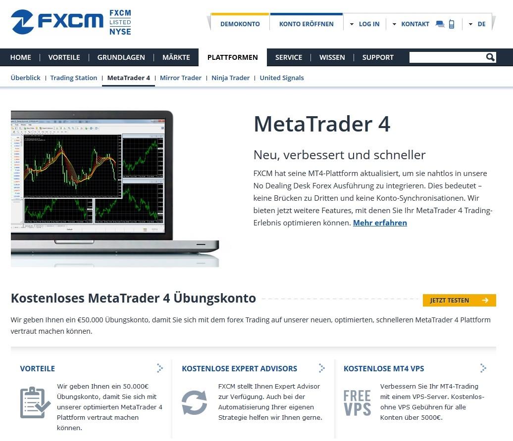 FXCM Meta Trader