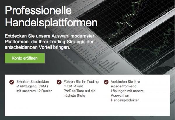 Professionelle Plattformen für effizienten Handel