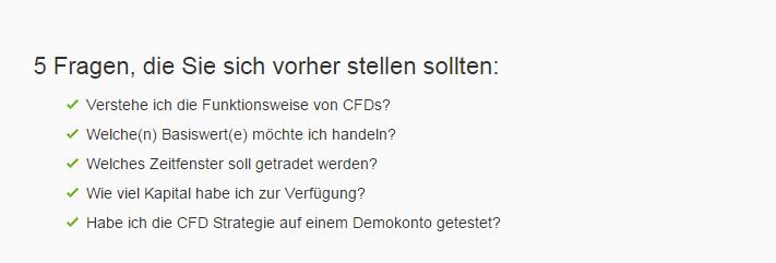 CFD Kosten bei OptionFair