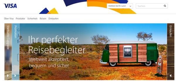 VISA Deutschland Kreditkarteneinzahlung