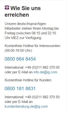 IG Kundenservice