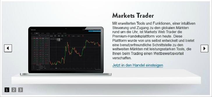 Markets.com Handelsplattform