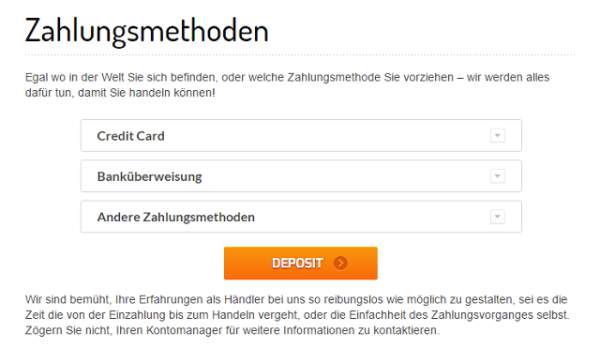 ZoomTrader Deposit
