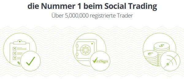 eToro die Nummer 1 beim Social Trading