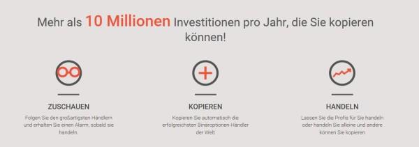 Überblick des Social Tradings bei Copyop