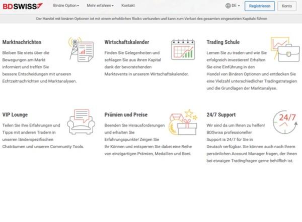 BD Swiss Screenshot Startseite