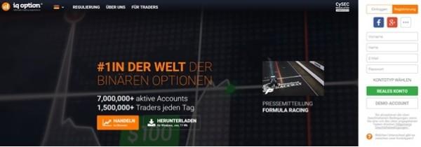 IQ Option Anmeldung Handelskonto