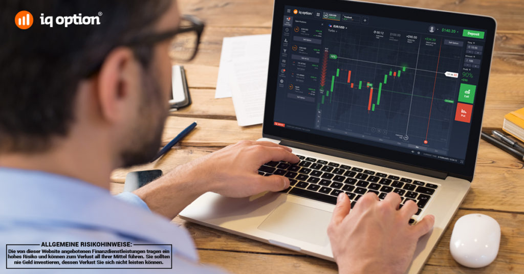 IQ Option bietet ein hoch professionelle Handelsplattform.